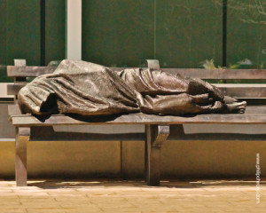"""Jesus the Homeless"" by Timothy Schmalz"